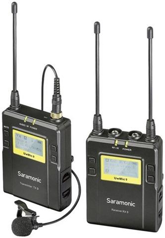 Беспроводная петличная радиосистема Saramonic UwMic9 Kit 1 TX9+RX9 с 1 передатчиком и 1 приемником