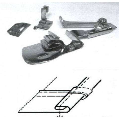 Окантователь для подгиба края ткани в 3 сложения  для тяжелых материалов KHF53 3/16 ((4,8мм) | Soliy.com.ua