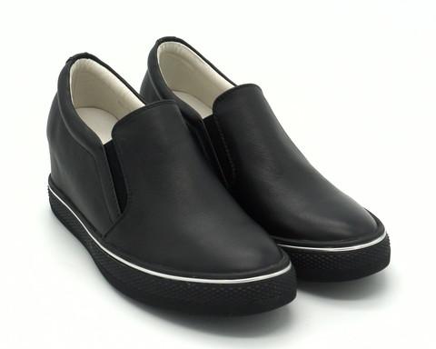 Черные кожаные сникерсы