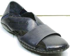 Летние мокасины сандалии мужские кожаные Luciano Bellini 76389 Blue.