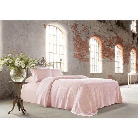 Покрывало ПИКЕ BAROC розовый TIVOLYO HOME Турция