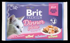 Паучи для кошек, Brit Premium Cat Jelly Dinner Plate