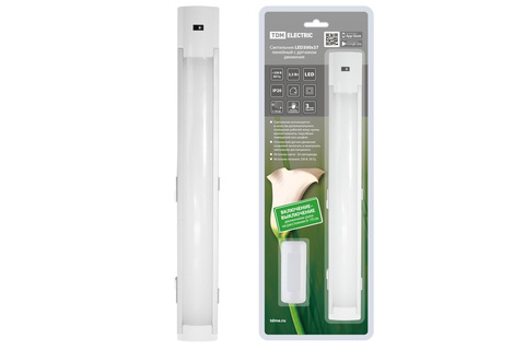 Светильник LED300х37 линейный, 2,5 Вт, 230 В, датчик движения, TDM