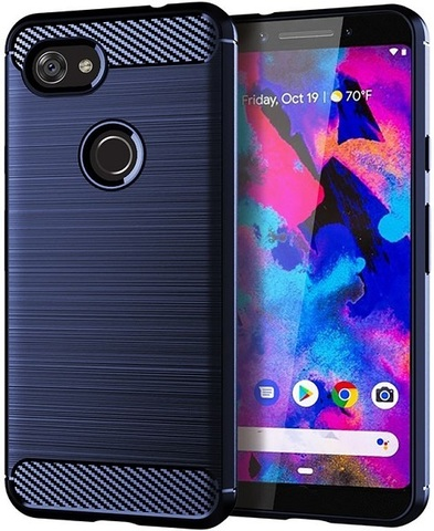 Чехол Google Pixel3a XL цвет Blue (синий), серия Carbon, Caseport