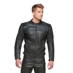 Мотокуртка кожаная Sweep Ragnar, чёрный
