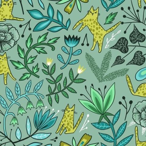 Леопарды и цветы