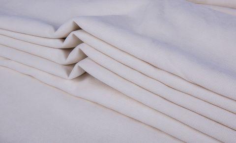 Штора готовая однотонная из портьерной ткани | цвет: молочный | размер на выбор