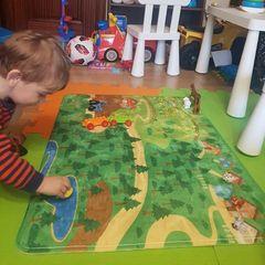 Детский развивающий коврик Синий Трактор - купить в ...