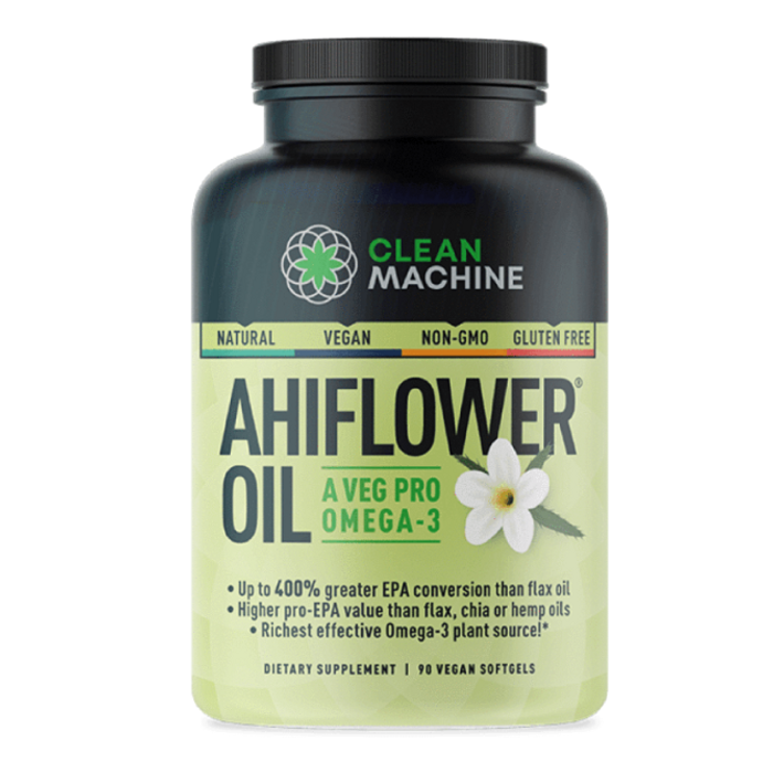 CLEAN MACHINE, AHIFLOWER® масло с Омега 3, 90 капсул